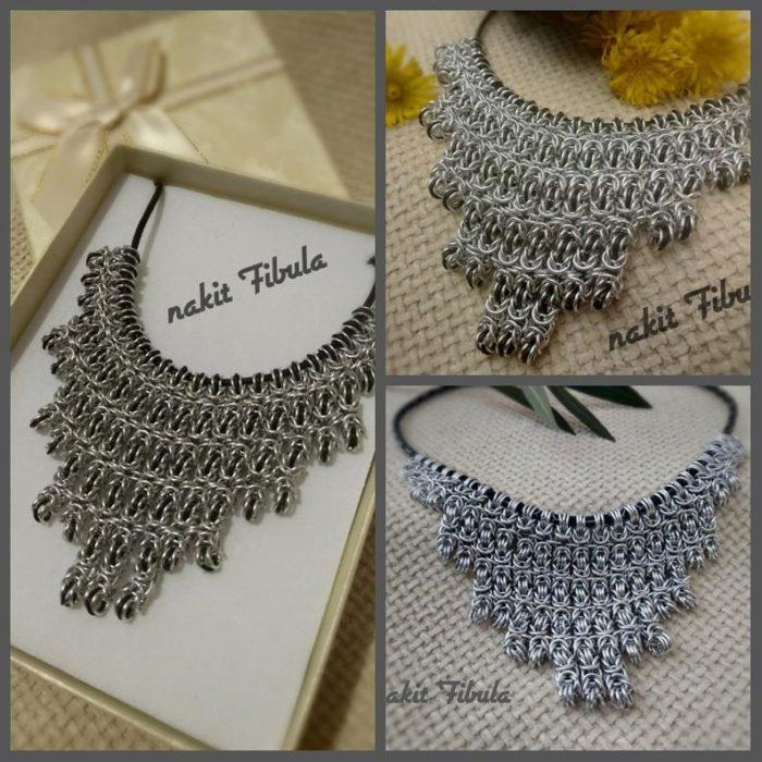 Ogrlica od nehrđajućeg čelika by Nakit Fibula u poklon kutiji i u različitim kadrovima